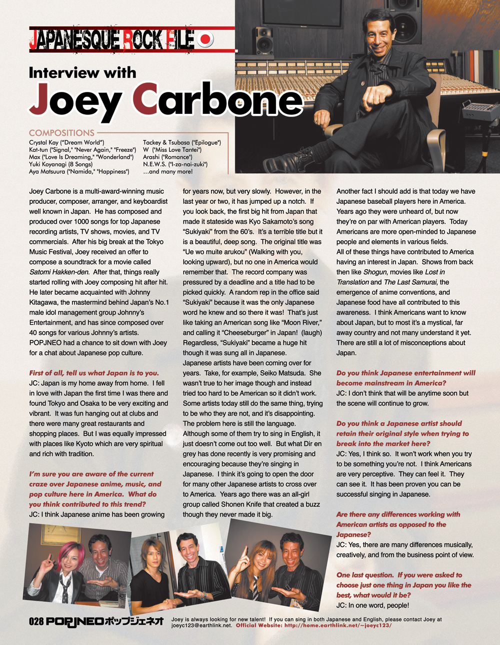 Interview with Joey Carbone