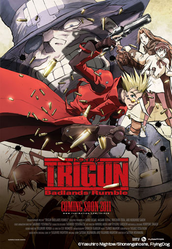 TRIGUN: BADLANDS RUMBLE Blasts Into North American Box Offices in Summer 2011!